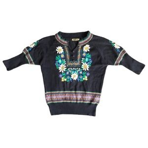 RAGE floral embroidered sweater